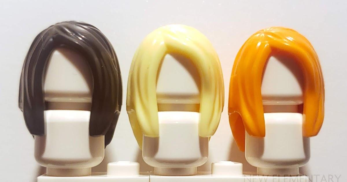 6 X Lego Minifigure Hair Wig  Black Long Straight Wavy Various Designs Colours