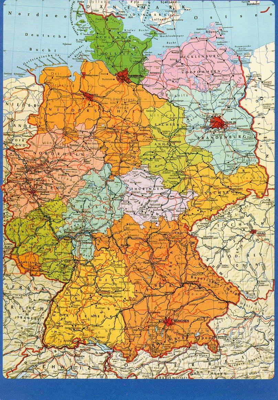 Pocztowkowe Mapy Niemcy