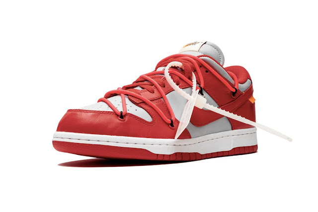 Nike Dunk Low X Off-White University Red