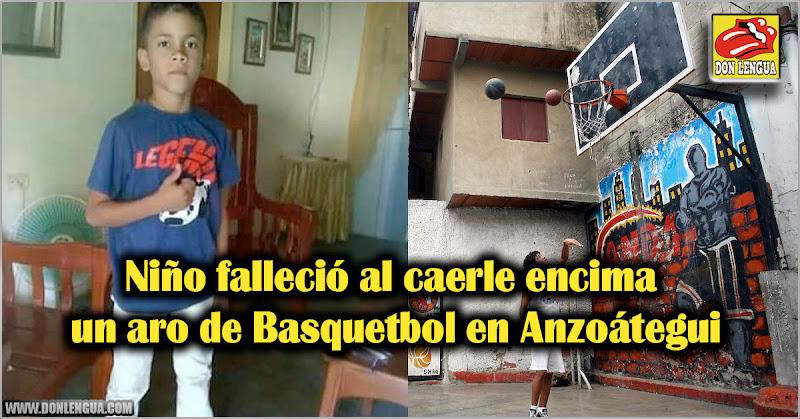 Niño falleció al caerle encima un aro de Basquetbol en Anzoátegui