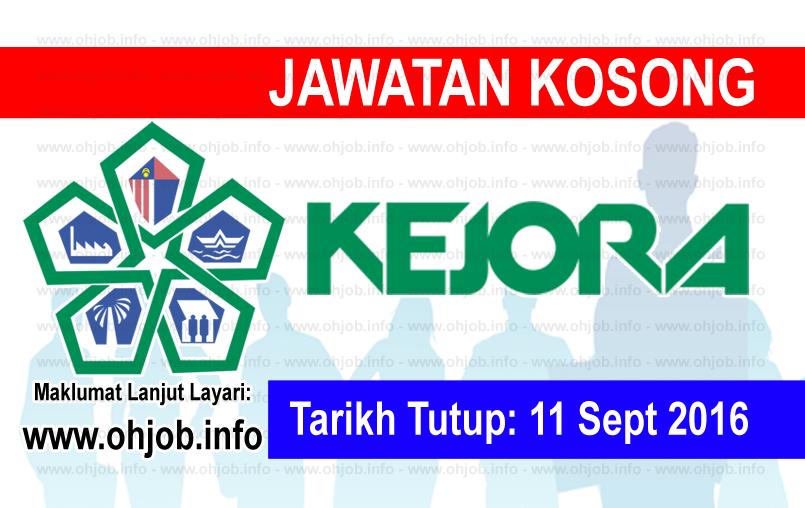 Jawatan Kerja Kosong Lembaga Kemajuan Johor Tenggara (KEJORA) logo www.ohjob.info september 2016