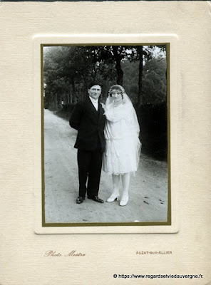 Photo de mariage noir et blanc, photo Mestre Auzat sur Allier