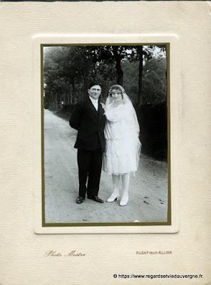 Photo de mariage noir et blanc, photo Mestre Auzat sur Allier
