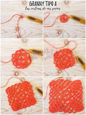 imagen paso a paso grannys ahuyama crochet