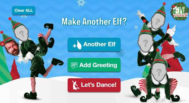Elf Yourself caricare altra foto viso