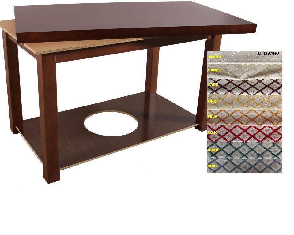 Faldillas para mesa camilla redonda excellent tapete mesa - Mesas camillas redondas ...