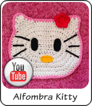 Alfombra Kitty de trapillo