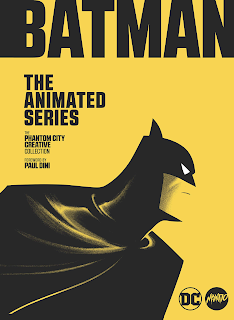 Yellow cover with profile of Batman in black