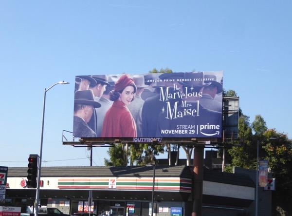 Marvelous Mrs Maisel series billboard