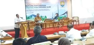 Kaban Bappeda Provinsi Jambi Secara Resmi Membuka Konsultasi Publik Rencana Pertumbuhan Ekonomi Hijau Provinsi Jambi