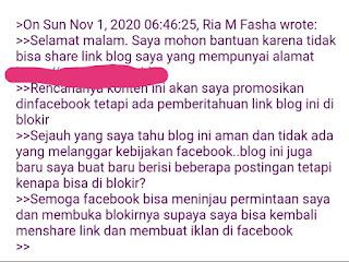 isian banding saat url diblokir facebook