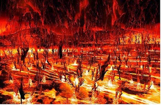 the burning city of hell fire