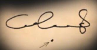 نقطة أسفل التوقيع