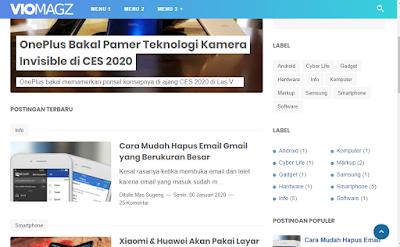 Template Blog VioMagz 3.3 Dari Mas Sugeng.id