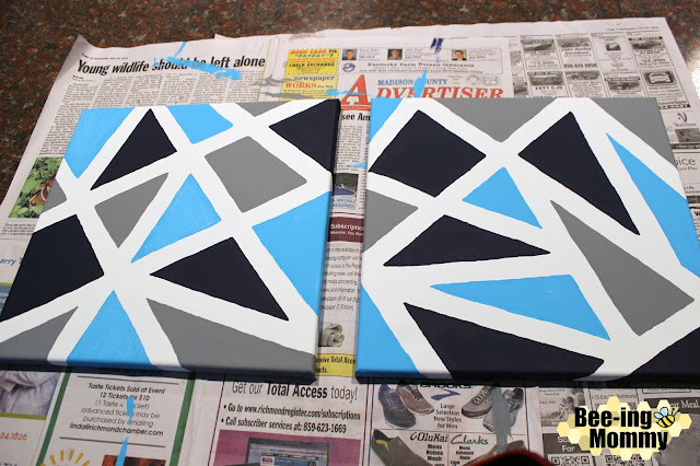 geometric wall decor, geometric wall decor using painters tape, triangle painting, triangle wall decor, wall decor, navy decor, navy wall decor, painters tape, painter's tape art, painter's tape decor, painter's tape painting, painter's tape craft, easy wall decor, DIY wall decor, DIY paintings, DIY painting, geometric painting, geometric art, geometric canvas, triangle painting, navy painting, triangle decor, geometric nursery, geometric nursery decor, nursery decor, wall decor, simple wall decor