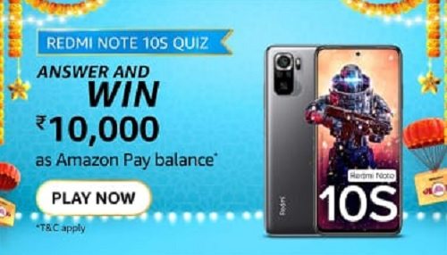 Which gaming processor is used in Redmi Note 10S?