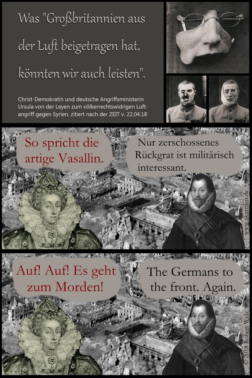 Völkerrecht, Syrien, Verbrechen, Angriffskrieg, Verteidigungsministerin, Ursula von der Leyen, CDU, Grundgesetz, Vasallentreue