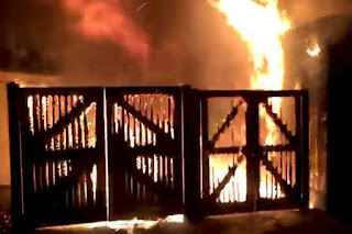 Visitors evacuated, animals moved after fire at British zoo