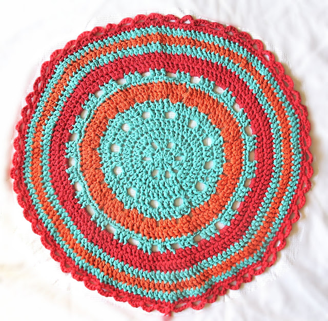 DIY gehaakte ronde mat/round crocheted rug