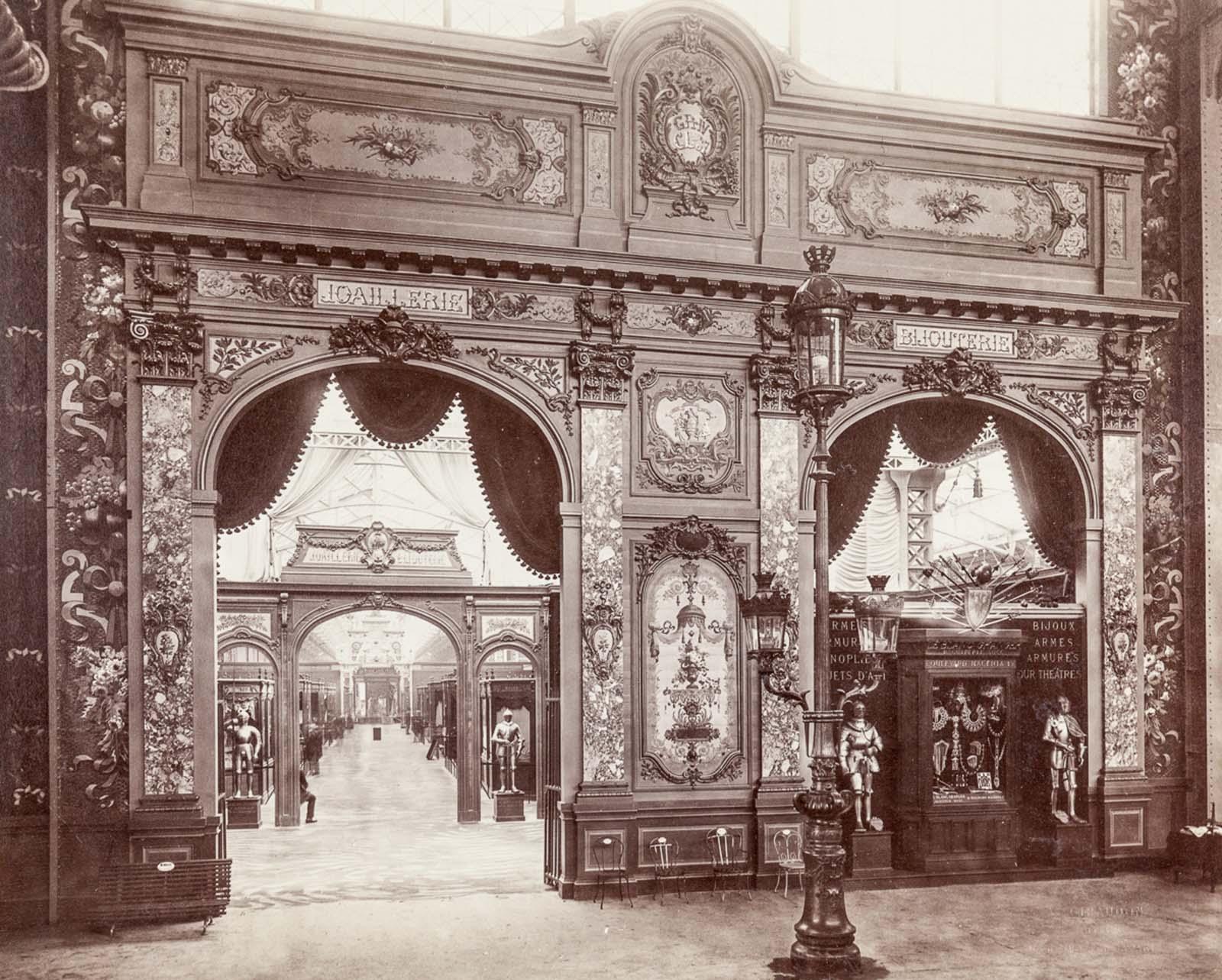 The jewelry exhibition.