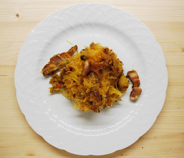 Courge spaghetti gratinée