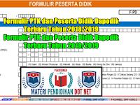 Formulir PTK dan Peserta Didik Dapodik Terbaru Tahun 2018/2019