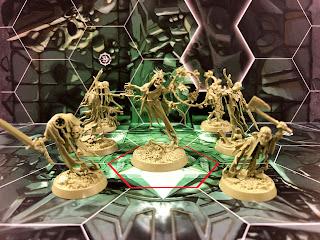The terrifying nighthaunt team from Warhammer Underworlds: Nightvault