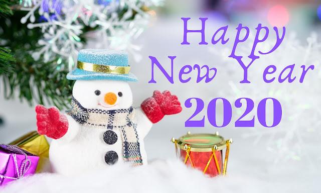 Happy New Year 2020 Ice Statue