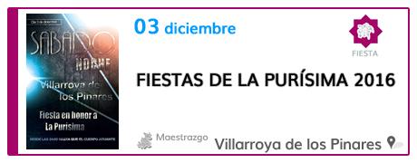 Fiestas de La Purísima en Villarroya de los Pinares
