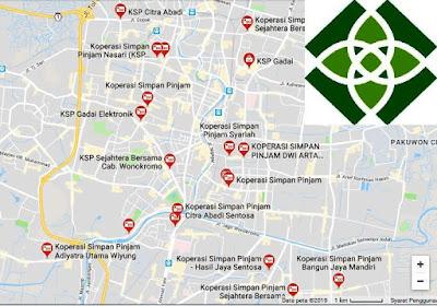 database koperasi simpan pinjam resmi kota Surabaya