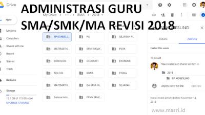Bahan Administrasi Guru PPKN SMA/SMK/MA Lengkap Versi 2018