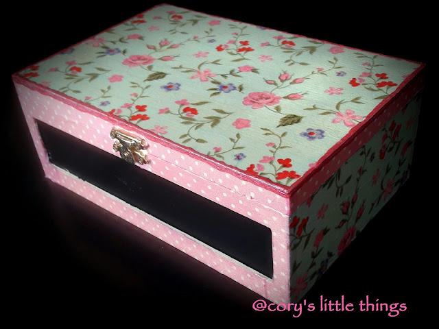 shabby chic jewellery box/cutie de bijuterii shabby chic