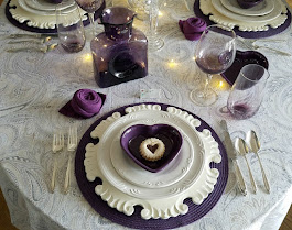 Purple Hearts for Valentine's Day