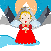 AvmGames Cute Snow Angel …
