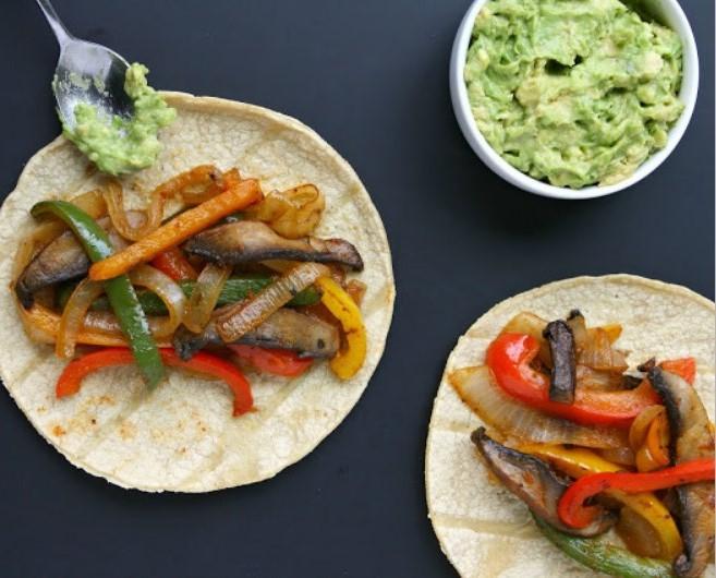 Portobello Fajitas #quickandeasy #vegetarian