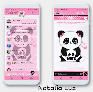 Panda & Baby Theme For YOWhatsApp & Fouad WhatsApp By Natalia Luz