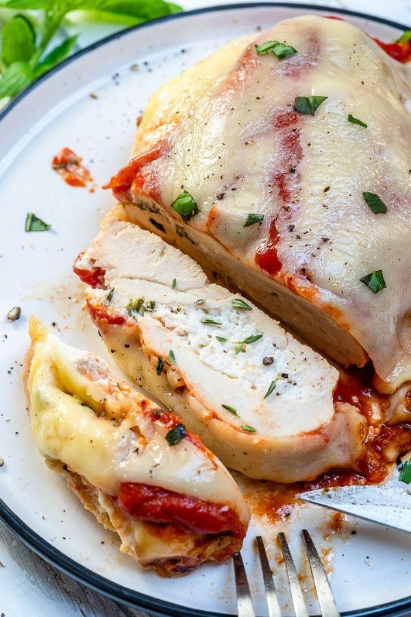 Lasagna Stuffed Chicken Breasts