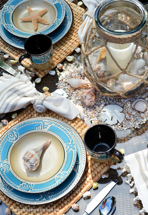 Pfaltzgraff Coastal Dinnerware Table Setting Decor Idea Entertaining