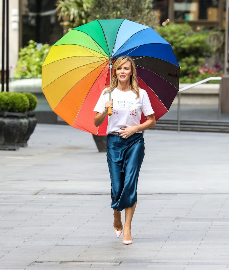 Amanda Holden Spotted While Leaving Global Radio in London 1 May -2020