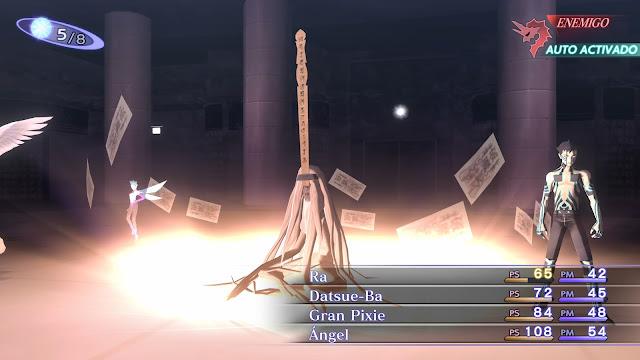 Combate Semioscuro Datsue-Ba Análisis Shin Megami Tensei III Nocturne HD Remaster