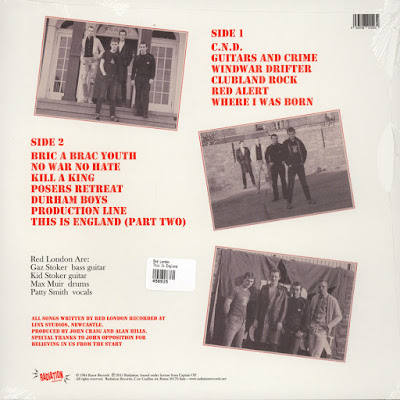 Red London record cover This is England