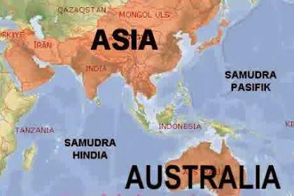 Letak indonesia secara geografis diantara dua benua