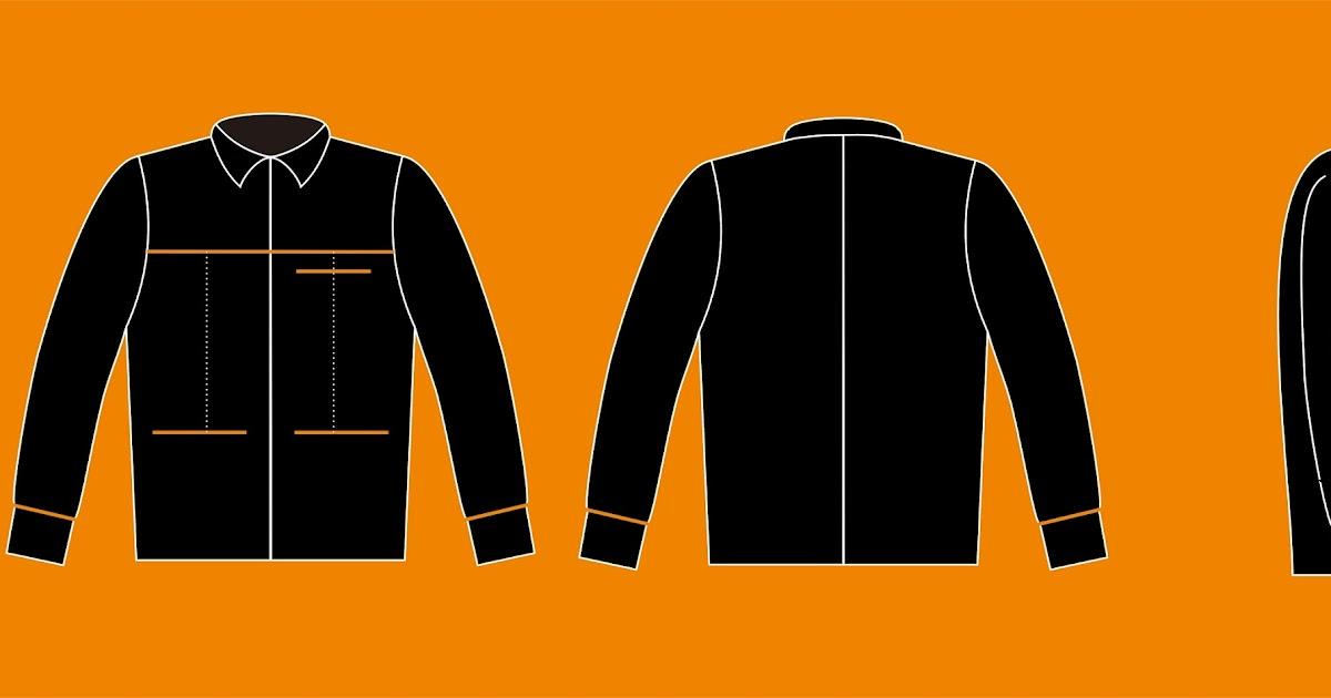 Download Template Desain Baju Kemeja Lengan Panjang