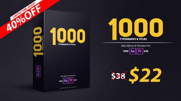900 Typography & Titles[Videohive][After Effects][PP][22373301]