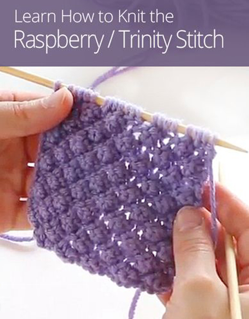 Raspberry/Trinity Stitch - Tutorial