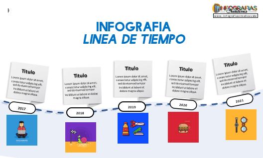 timeline plantilla 12