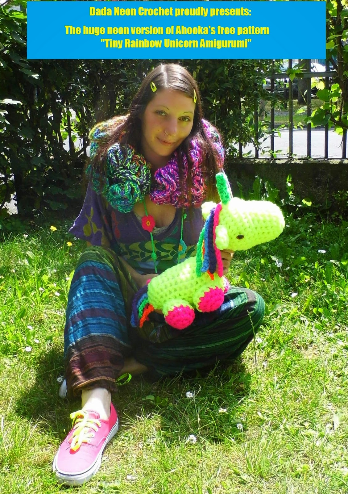 Happy Rainbow Unicorn Amigurumi Pattern & Kit – Tiny Rabbit Hole ... | 1600x1128