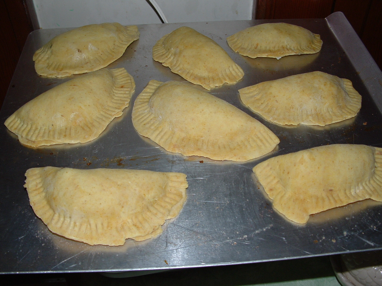 sheep spinach and strawberries jamaican patties