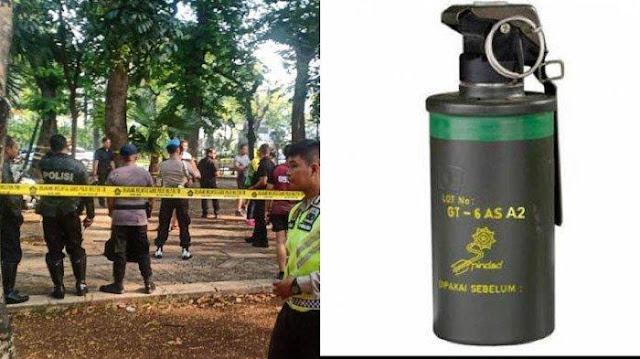 Granat Asap yang Meledak di Monas Milik Anggota Polisi