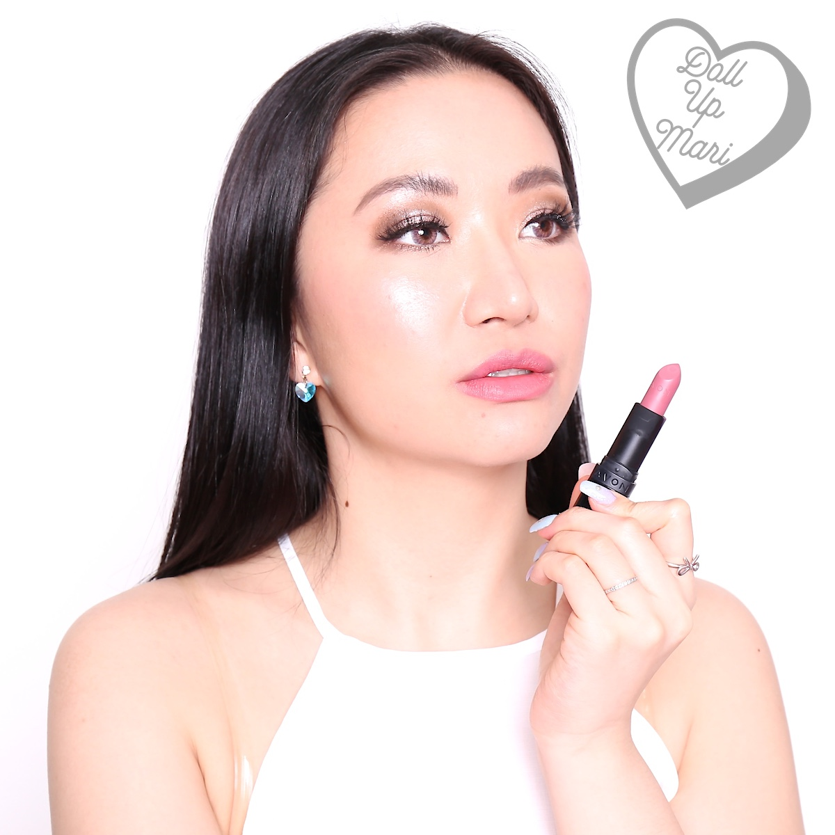 Wearing Pink Truffle shade of AVON Perfectly Matte Lipstick